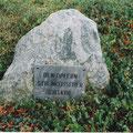 Gedenkstein am ehemalgen Weg zum Gefängnis