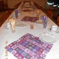 tolle dekorierter Tisch - die Vereinsleitung bedankt sich den Organisatoren unter der Leitung von Gerti Allinger