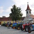 Um 09.00 Uhr waren alle da für Ausfahrt ins Eisenbahnmuseum Sigmundsherberg