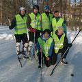 Unser Eiskhockeyteam 2012: stehend: K. Liebhart, M. Gundinger, St. Nendwich, C. Merzdovnik  sitzend: D. Fürlinger und Th. Anglmayer