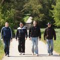 Karl, Christian, Stefan und Thomas holen auf