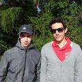 Stefan und Manuel freuen sich auf eine schöne Wanderung