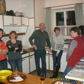 Unser fleissiges Schankpersonal: Andrea, Vroni, Reinhard, Andrea sowie Elfi und Martha