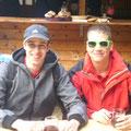 Stefan und Florian - unsere Webmaster bei der Rast