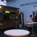 Pünktlich zum Festbeginn kommt auch der erste Schnee
