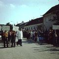 Empfang der Festgäste für die Sportplatzeröffnung 1977