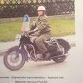Helmut Maierhofer - heute noch für den USV mit Motorrad unterwegs