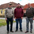 Manfred, Marcel und Karl - schon in Wartepostition...