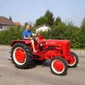 schönster Traktor im Teilnehmerfeld: MC Cormick / Fahrer Christoph GERHART