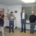 Spielleiter Gerhard Toifl, Obmann Manfred Beck, Bgm. Franz Göd sowie USV Präsident Roman Winglhofer