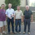 Reinhard Grill, Sieger Karl Bruckner, Obmann M.Beck und Präsident R. Winglhofer