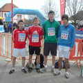 Staffellauf 2010 in Maissau: v.l.n.r. Batek, Bauer, Pelikan, Schleinzer