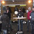 Viele Besucher hatten wir beim Glühweinstand der Wintersportsektion