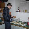Alexander bei der Vorbereitung