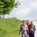 Manuel, Florian und Stefan nähern sich schon dem Ziel
