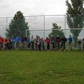 Rast am Sportplatz in Heinrichsdorf