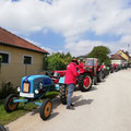 weiterer Treffpunkt Missingdorf - hier kamen weitere Traktorfreunde zum Konvoi hinzu...