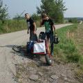 Team Sallapulka bei den Vorbereitungen