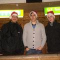 Das Schankteam: Florian, Manuel und Stefan