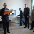 Gottfried Doubek berichtet kurz über den Werdegang des USV Kainreith/Walkenstein