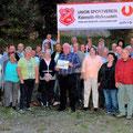 Gruppenfoto einer tollen Feier - Danke Franz