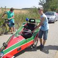 Team Reinhard und Markus Grill vor dem Start