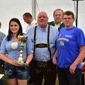 1. Platz: USV Traktorfreunde: Kerstin, Franz und Norbert sowie OV Ludwig Knell