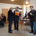 UNION Ehrenzeichen Silber an Altobmann F. Leidenfrostg