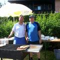 Grillchef Roman Winglhofer j. und Reinhard Schweitzer