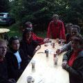 Max,Kerstin, Andrea, Karl, Manfred, Herbert, Reinhard und Doris bei der 1. Labestelle