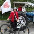 Silvia fuhr die ganze Strecke mit dem Rad - Gratulation...
