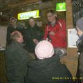 Unser Personal im Außendienst: Chefkoch Roman und seine Helfer Manuel, Florian und Stefan