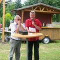 Präsident Roman Winglhofer mit Moderator Wolfgang Kirchner