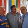 Sektionsleiter Franz Spitaler - USV Aufsichtsrat Karl Schleinzer und Justizminister Dr. Wolfgang Brandstetter
