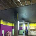 Trabajos en techo acustico, segunda placa de pladur