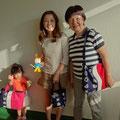 2013.9.20 当店をご愛用いただいている仲良し美人三人家族さま♪いつもありがとうございます。