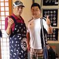 2014.7.4 大鍋屋旅館のおじさん&去年佐賀市から気仙沼市に応援にいらしていた佐尾さん!商品お買い上げありがとうございました♡