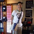 2014.7.29 いつもご来店いただいている北御門様!オーダーバッグがとても似合っています♡♡いつもいつもありがとうございます!!