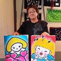 2014.9.6 弘前のねぷた絵師田中さんが、ふかひれちゃんとあいちゃんのねぷたを持ってご来店!!!もううれしくって、言葉になりません!!!田中さんの優しい人柄大好きです!本当にありがとうございます!!