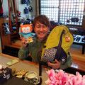 2019.3.30 大阪出身のミュージシャン門松良祐さんご来店♪大島の椿マラソン頑張って!