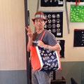 2014.7.6 エアロビインストラクターの奥山さん☆オーダーメイドのバッグ、超お似合いですー!ありがとうございました♡