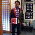 2014.12.21 いつもお店に来てくださる橋口さん!ガンバーレをいつも気にかけてくださって、本当に感謝しています!!オーダーバッグとってもお似合いですよ♡いつもいつもありがとうございます!!