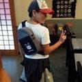 2013.11.20 東京からのカワイイお客様がご来店!ほやぼーやのボディーバックがとっても似合ってます!