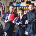 2014.3.15 秋田の能代からいらした3人組のお客さま♡ガンバーレをとっても応援してくださっていて、本当に有難く、嬉しい気持ちになりました!
