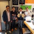 2018.10.24 東京から市役所に派遣でいらしていた原田さん、濱名さん、神保さん、とお友達!久々にお会い出来て嬉しかったです。