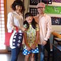 2014.8.7 滋賀県から旦那様に会いに来られた奥様と娘さん♡奥様、超おきれいで、モデルさんのようでした!帆布トート、とってもお似合いです♡ありがとうございました!!