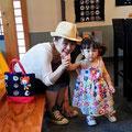 2014.8.6 仙台からお店と同じ名前の縁(ゆかり)さん親子♡お母さんも娘さんもとっても可愛い♡♡暑いなかご来店いただき、ありがとうございました!!
