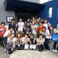 2013.8.31 九州大学と熊本大学から来てくださいましたボランティアの皆さんです。ご来店ありがとうございました。