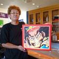 2013.9.6 ねぷた絵師の田中さんが来店されました。ご来店ありがとうございます。