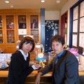 2013.11.4 「山形よしあきフェスタ」で商品を見て訪ねてきてくれたお二人。うれしいご縁ができました!